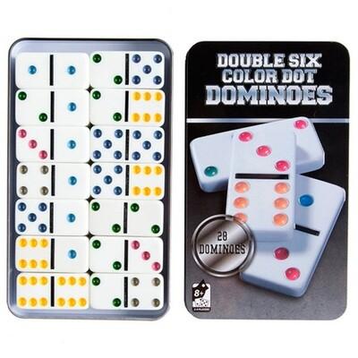 Domino Deluxe caja de metal 28 piezas