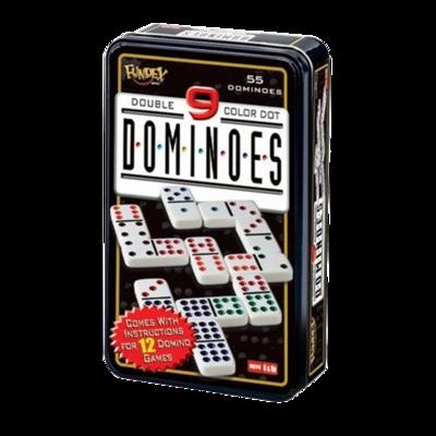 Domino Deluxe caja de metal 55 piezas