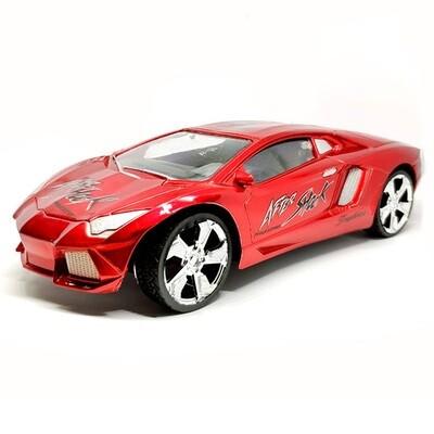 Carro control remoto con timon 1:18 mediano Rojo