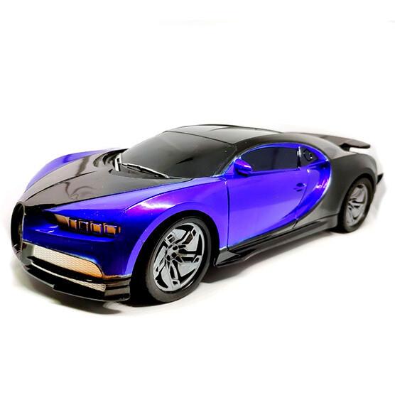 Carro de carreras de control remoto Grande 1:16 con luces azul