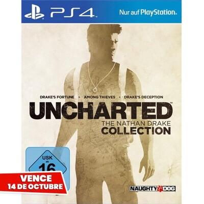 PS4 Uncharted Collection (3 juegos). Vence 14 Octubre