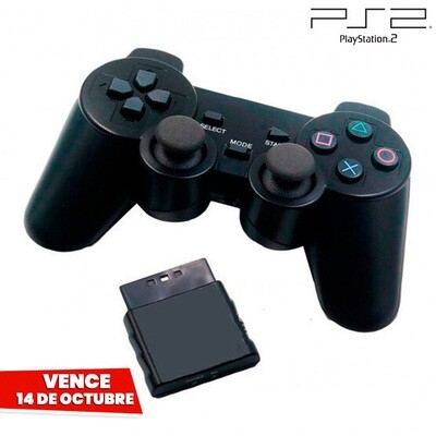 Control Inalambrico Negro PS2 (Hydra Usa). Vence 14 Octubre