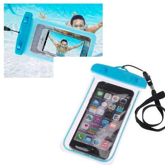Protector de celular a prueba de Agua Azul