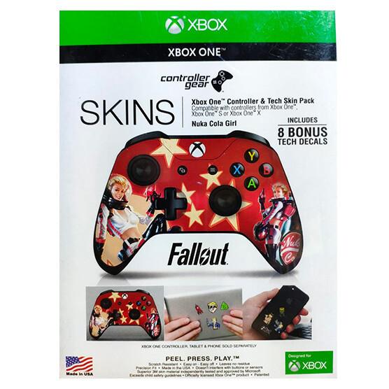 XBOX ONE Skin fallout Nuka Cola Girl para control + 8 calcomanias