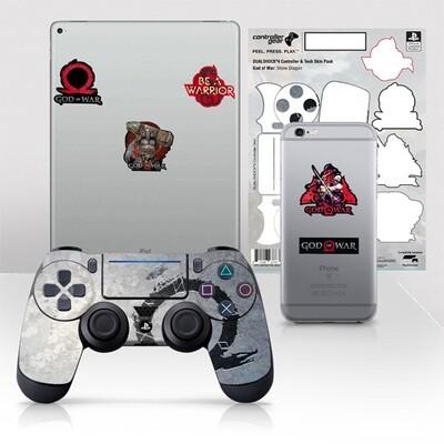PS4 Skin Gris God of War Stone Dragon para control + calcomanias