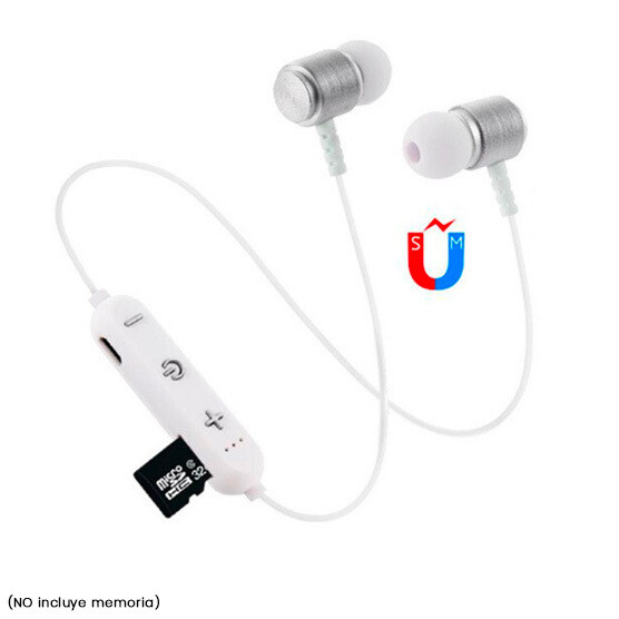 Audifonos Bluetooth Magneticos + Micro SD