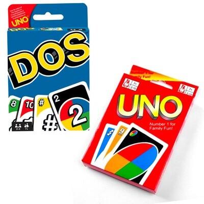 Juegos de Mesa UNO y DOS (108 PIEZAS)