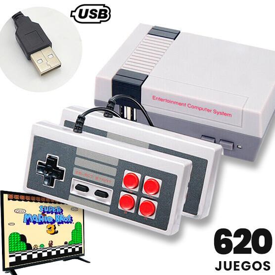 Consola Retro 620 Juegos + 2 Controles