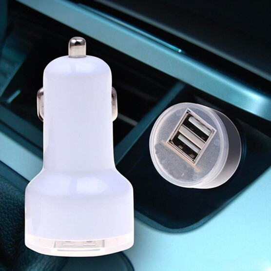 Enchufe carro 2 puertos USB