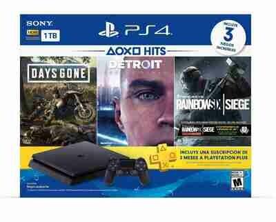 Consola PS4 1TB + 3 juegos