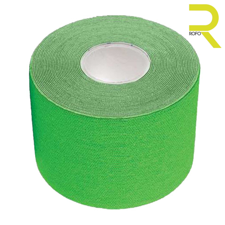 Rollo de 5 metros verde de Kinesiology tape para atletas de alto rendimiento. Guatemala