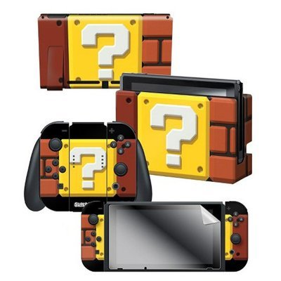 Switch Super Mario Skins + Protector