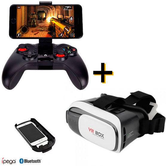 Consola Celular 3D: Control Bluetooth Ipega + Lentes VR BOX 2 6987246390680+611888264905