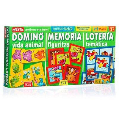 Combo de 3 Juegos (Memoria , Loteria, Domino)