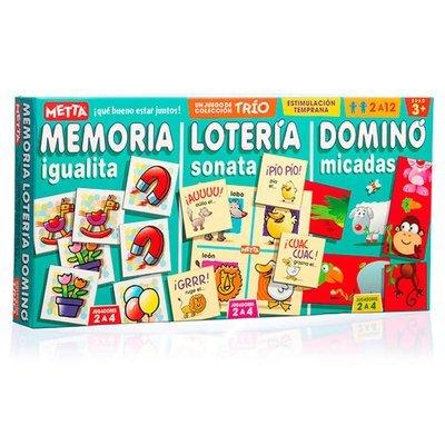 Combo de 3 Juegos (Domino, Memoria, Loteria) 0621