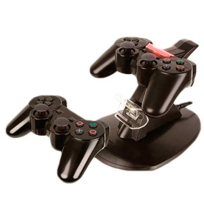 PS3 Cargador para 2 controles