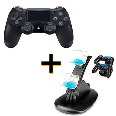 Control PS4 Dualshock 4 Sony + 1 Cargador de 2 controles