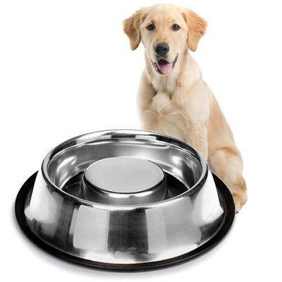 Plato Alimentacion Lenta Anti-Ahogo para Perro 500mL