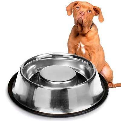 Plato Alimentacion Lenta Anti-Ahogo para Perro 1000mL