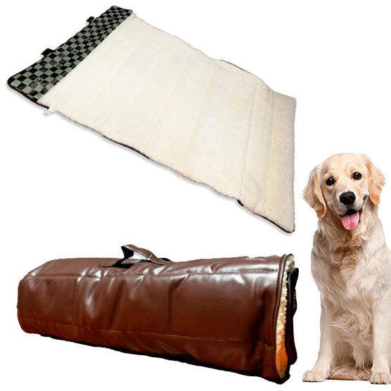 Cama Termica Portatil Cuerina Acolchonado para perro grande 112x67cms