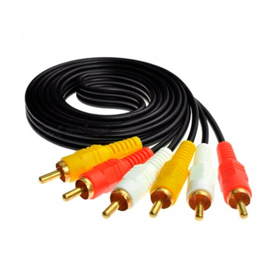 Cable video 3 RCA macho a 3 RCA macho (2 metros)