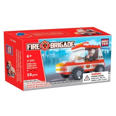 Fire Fireman 911 Jeep, 58 piezas