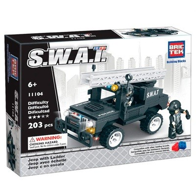 SWAT JEEP WITH LADDER, 203 piezas