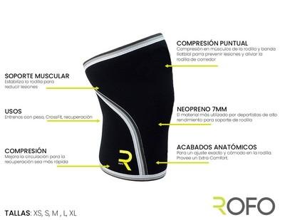 Rodillera de Neopreno CrossFit 7mm (1 unidad)