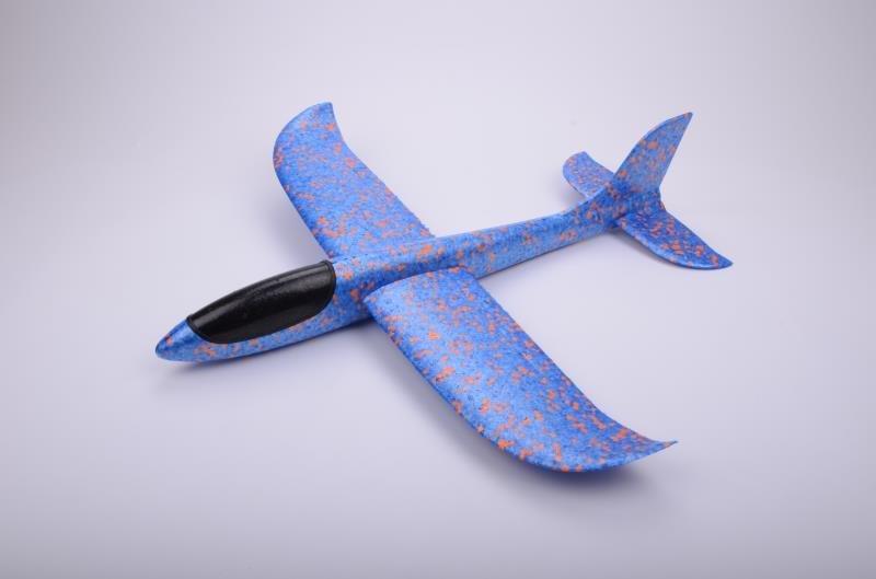 Бумеранг синий/ дальность полёта 30 м/ размах крыла 47 см/ от 5 лет
