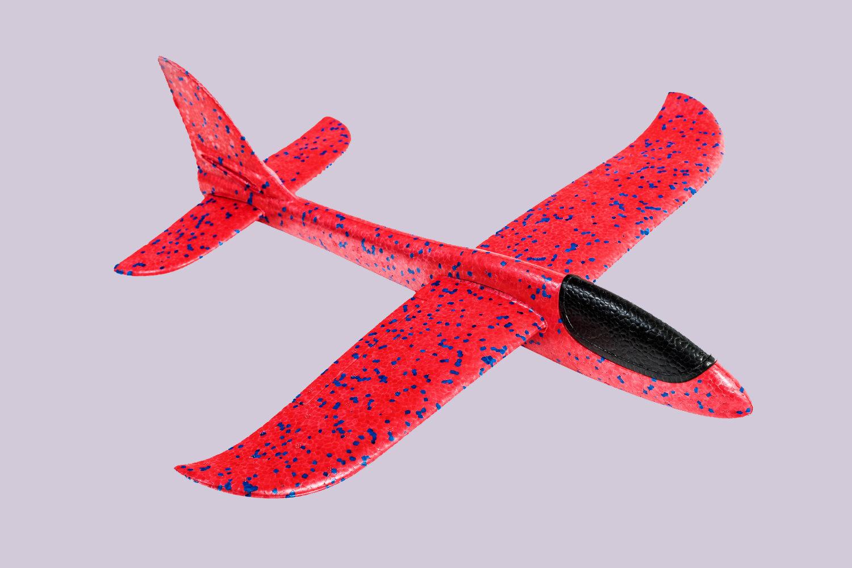 Кукурузник красный/ дальность полёта 30 м/ размах крыла 47 см/ от 5 лет