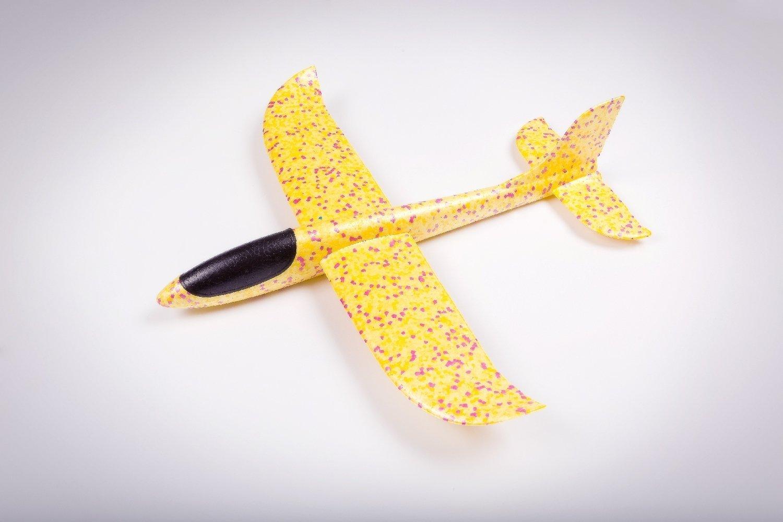 Бумеранг жёлтый/ дальность полёта 30 м/ размах крыла 47 см/ от 5 лет