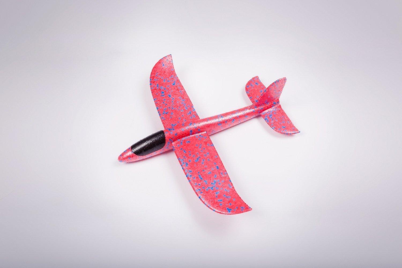 Мини-бумеранг красный/ дальность полёта 20 м/ размах крыла 35 см/ от 3 лет