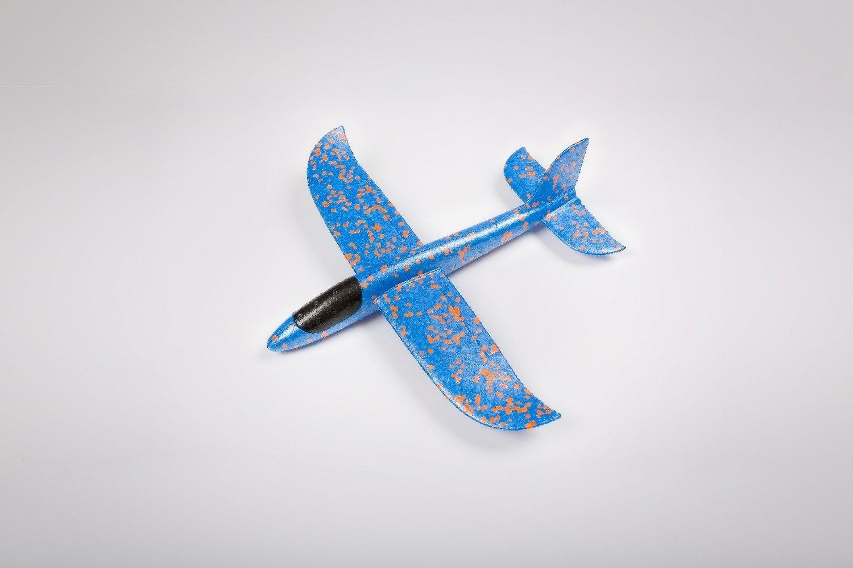 Мини-бумеранг синий/ дальность полёта 20 м/ размах крыла 35 см/ от 3 лет