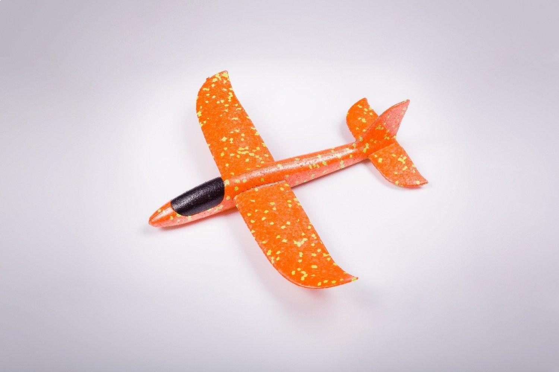 Мини-бумеранг оранжевый/ дальность полёта 20 м/ размах крыла 35 см/ от 3 лет