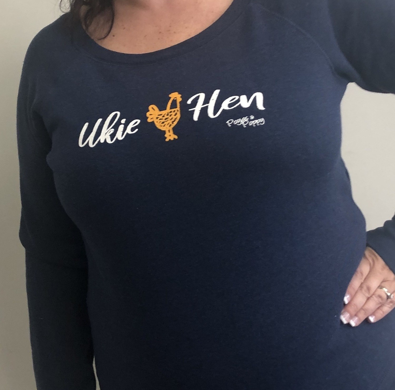 Ukie Hen Ladies Wide Neck Sweater