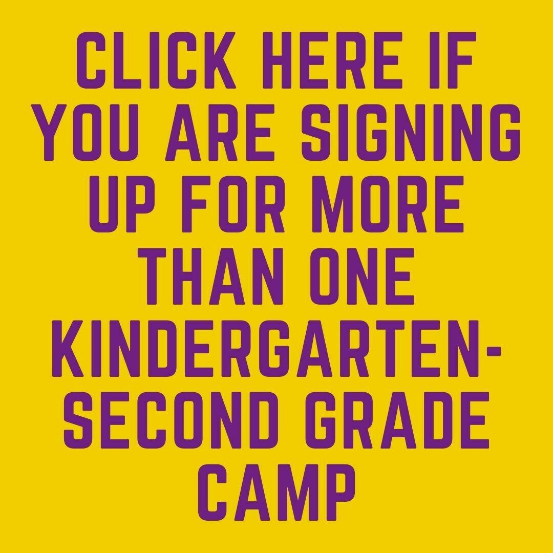 All Kindergarten - Second Grade Camps