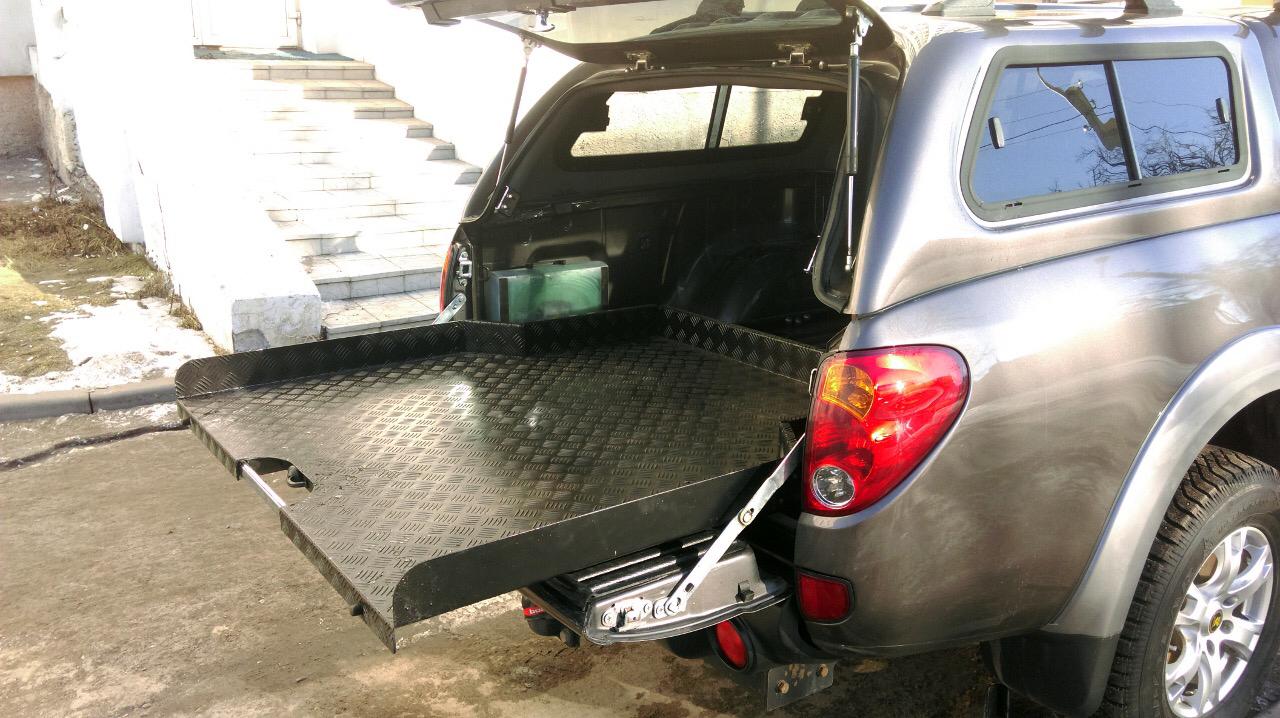 Выкатная грузовая платформа Mitsubishi L200 2006-2014 02463