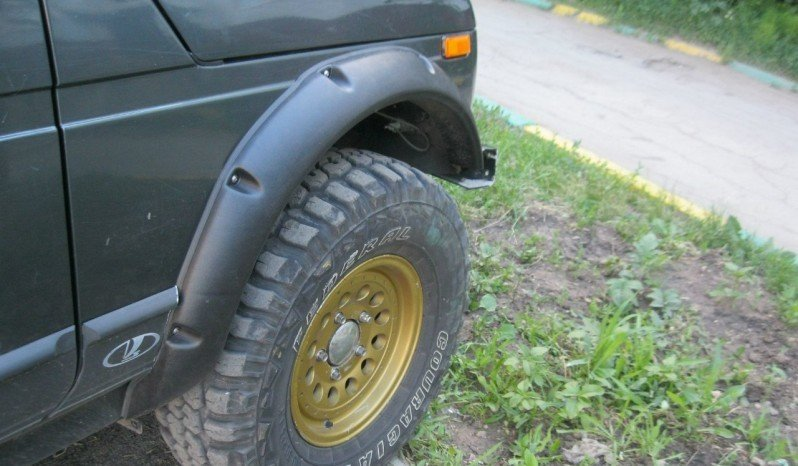 Расширители колёсных арок LAPTER ВАЗ НИВА 2131 5D(передние 70 мм, задние 70 мм) 00257