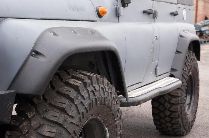 Расширители колёсных арок LAPTER УАЗ Хантер (передние 105 мм, задние 95 мм) 00263