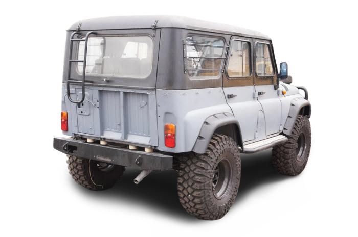 Расширители колёсных арок LAPTER УАЗ Хантер (передние 70 мм, задние 70 мм) 00272