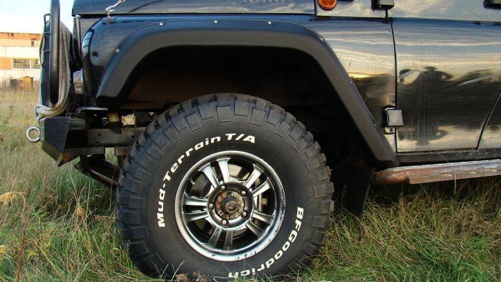 Расширители колёсных арок LAPTER УАЗ Хантер под нерезанные арки колёс 00277