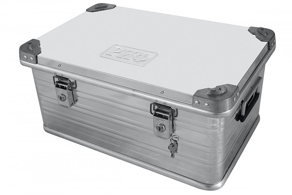 Ящик алюминиевый РИФ усиленный с замком 582х385х277 мм (ДхШхВ) 00617