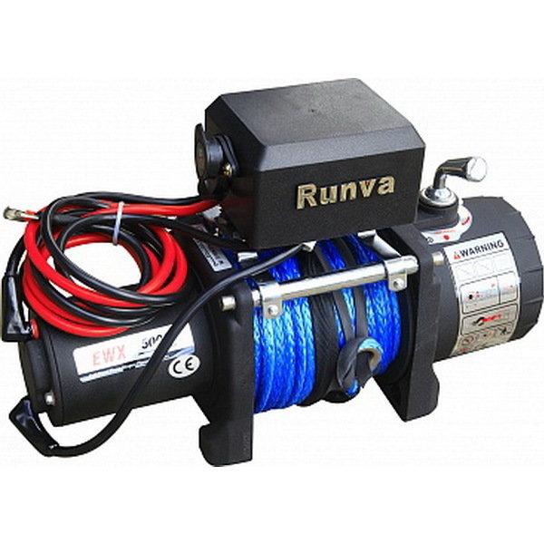Лебёдка электрическая 12V Runva 5000 lbs 2268 кг (синтетический трос) 01753