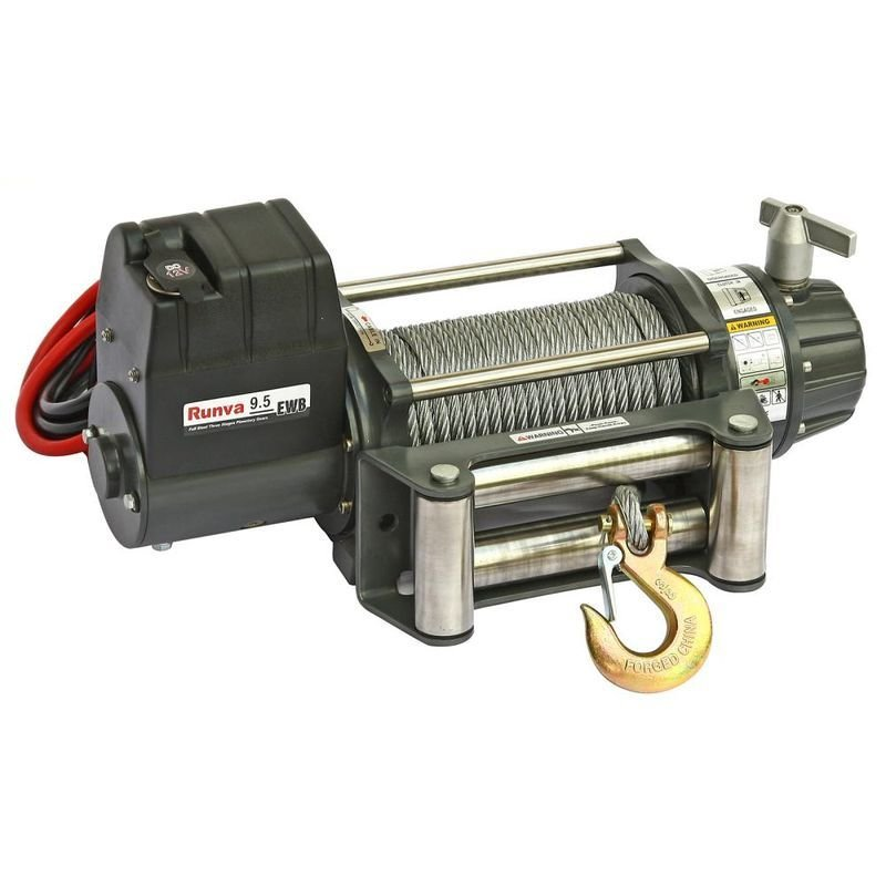 Лебёдка электрическая 12V Runva 9500 lbs 4350 кг (влагозащищенная) 01764