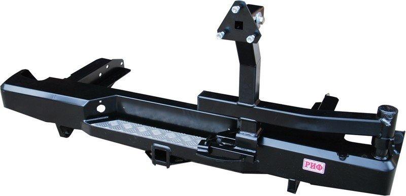 Бампер задний силовой с квадратом и калиткой РИФ NP300 кузов 1385 мм. 01794