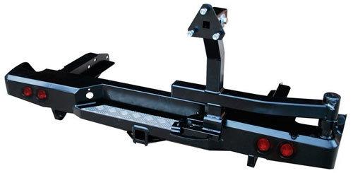 Бампер задний силовой с квадратом, калиткой и фонарями для Toyota Hilux 2010-2015 01801