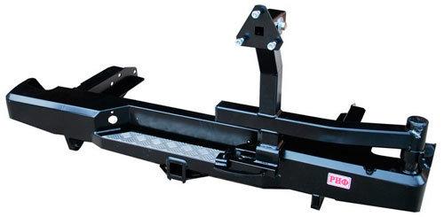 Бампер задний силовой с квадратом и калиткой для Toyota Hilux 2010-2015 01805