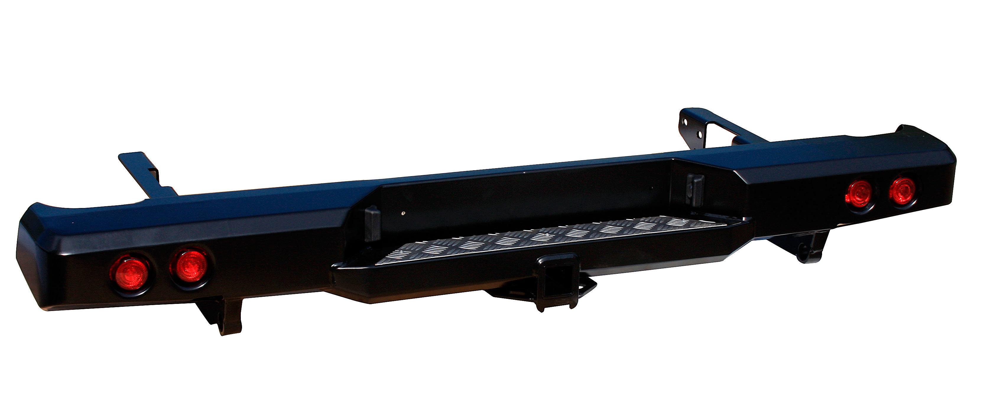 Бампер задний силовой с квадратом и фонарями для Toyota HILUX 01808