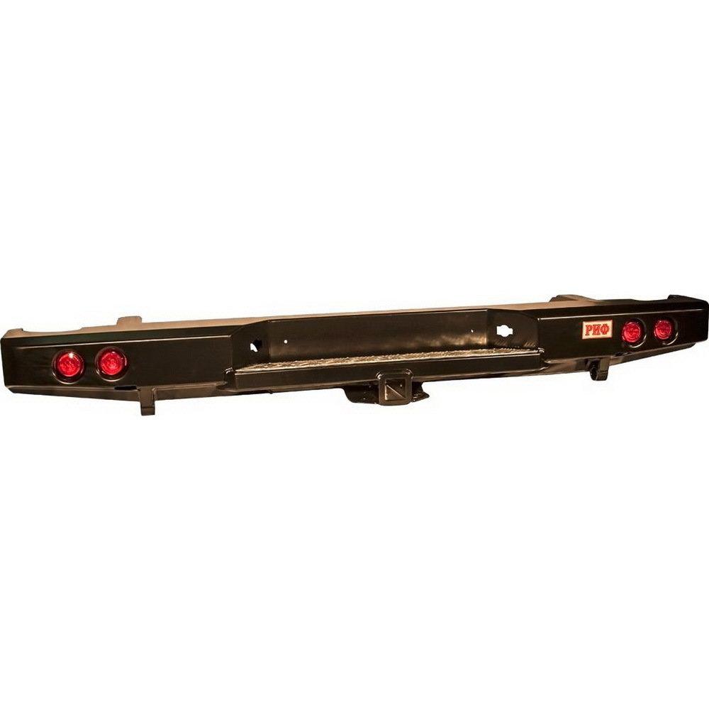 Бампер задний силовой с квадратом и фонарями РИФ Navara D40 01809