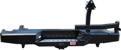 Бампер задний силовой с квадратом и калиткой РИФ Navara D40 01825